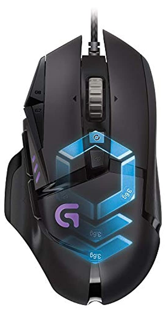 我慢する戸口課税Logitech G502 Proteus Core Tunable Gaming Mouse with Fully Customizable Surface, Weight and Balance Tuning (910-004074)