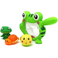 VERZABO CHOMPING BULL FROG Bathtub Bath Toy Set for 12 Months Plus Children [並行輸入品]