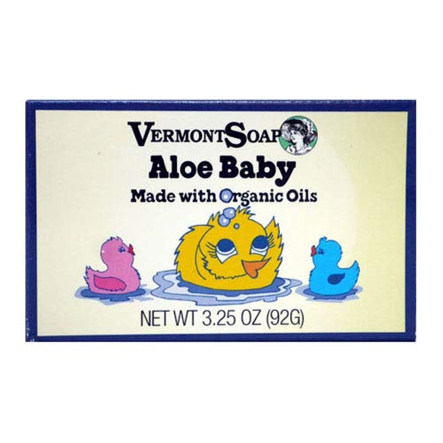 レンチ拷問塊VermontSoap バーモントカントリーソープ (アロエベビー) 92g オーガニック石けん 洗顔 ボディー