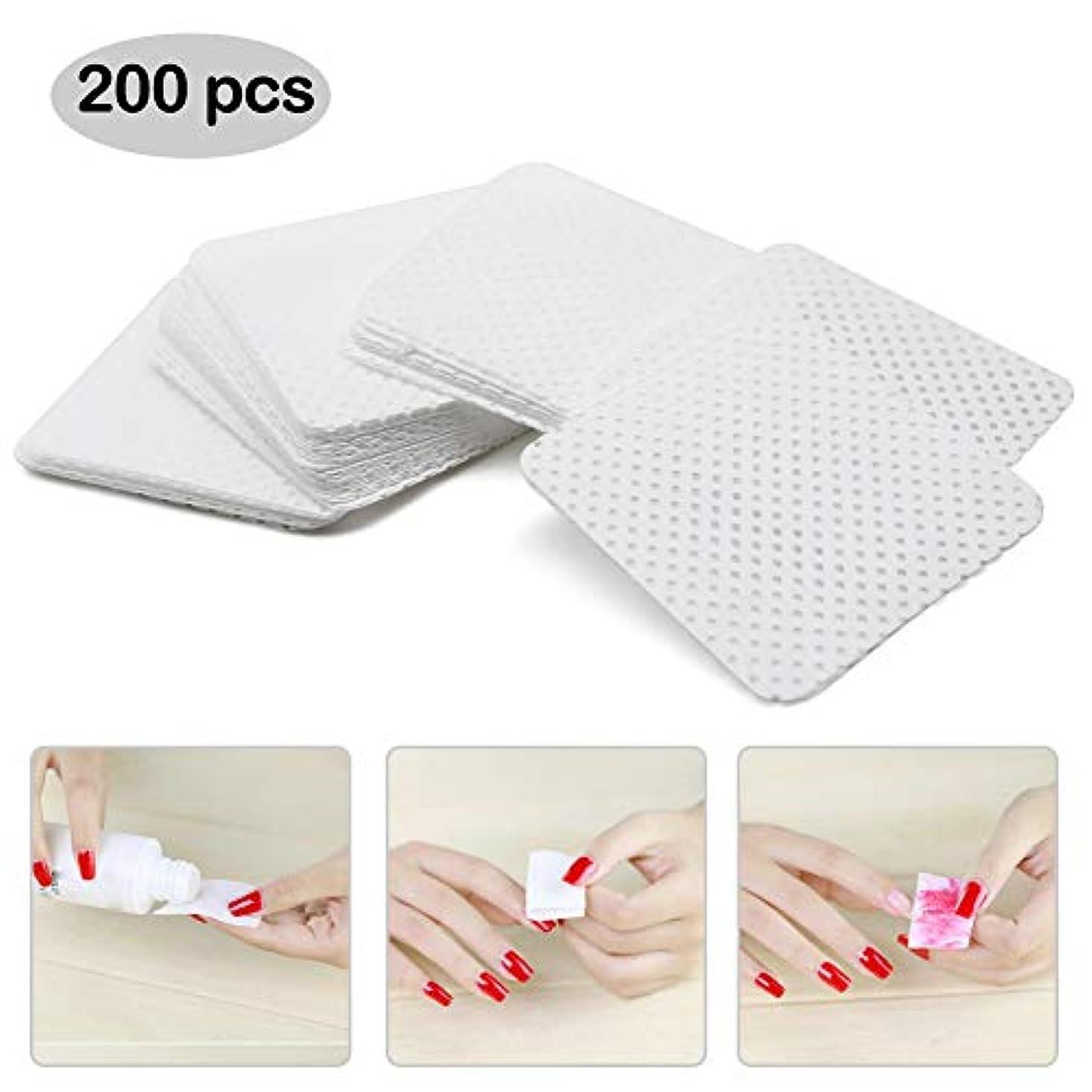 困難だらしない順応性のあるネイルワイプ コットン ネイルオフ不織布 未硬化ジェルの拭き取り 200枚入り