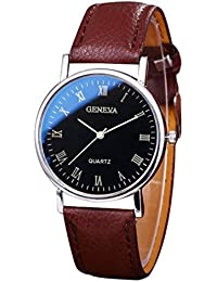 BEE&BLUE 腕時計 PUレザー 高級感 メンズ ファッション 石英時計 ビジネス お洒落