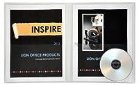 ライオンinsta-cover 2-pocketクリアプレゼンテーションフォルダと連続外側ビューポケット、11x 17インチ、1フォルダ(91600-cr) [並行輸入品]