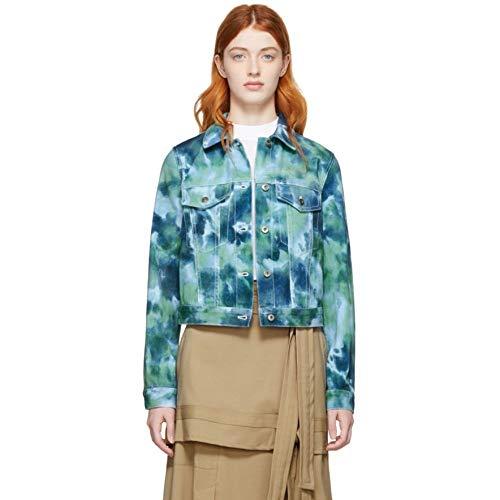 3.1 Phillip Lim (スリーワン フィリップ リム) レディース アウター ジャケット Blue & Green Denim Tie-Dye Jacket サイズUS0-XXS [並行輸入品]