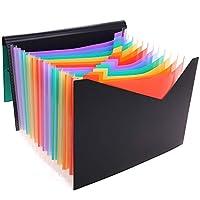SKYDUE ドキュメントスタンド 12分類 ファイルボックス A4 紙 収納ボックス 小物入れ ファイルスタンド 書類ケース 机上収納ボックス 文具収納 事務用品