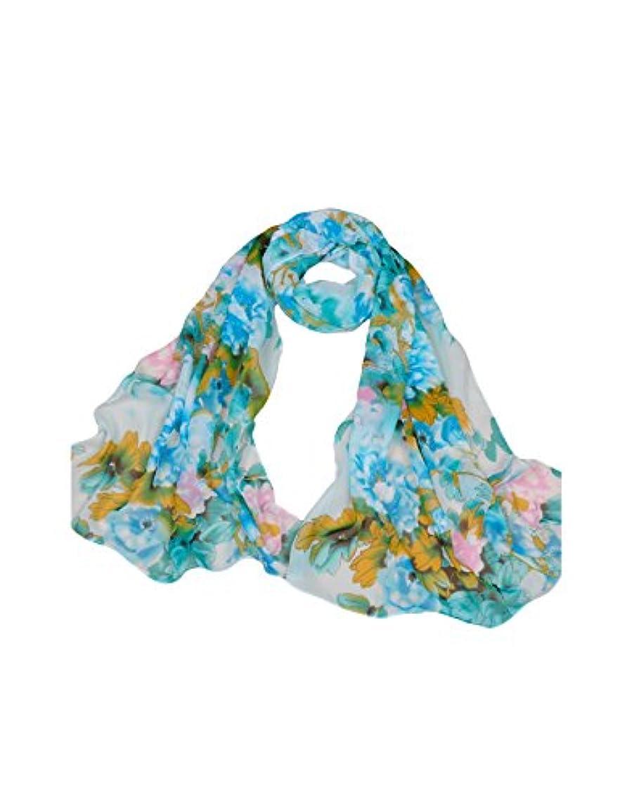 オピエート枯渇する証言するドレスヌー レディース ファッション シフォン 田舎風 牡丹花プリント UVカット 防紫外線 薄手 ロング スカーフ 全11色