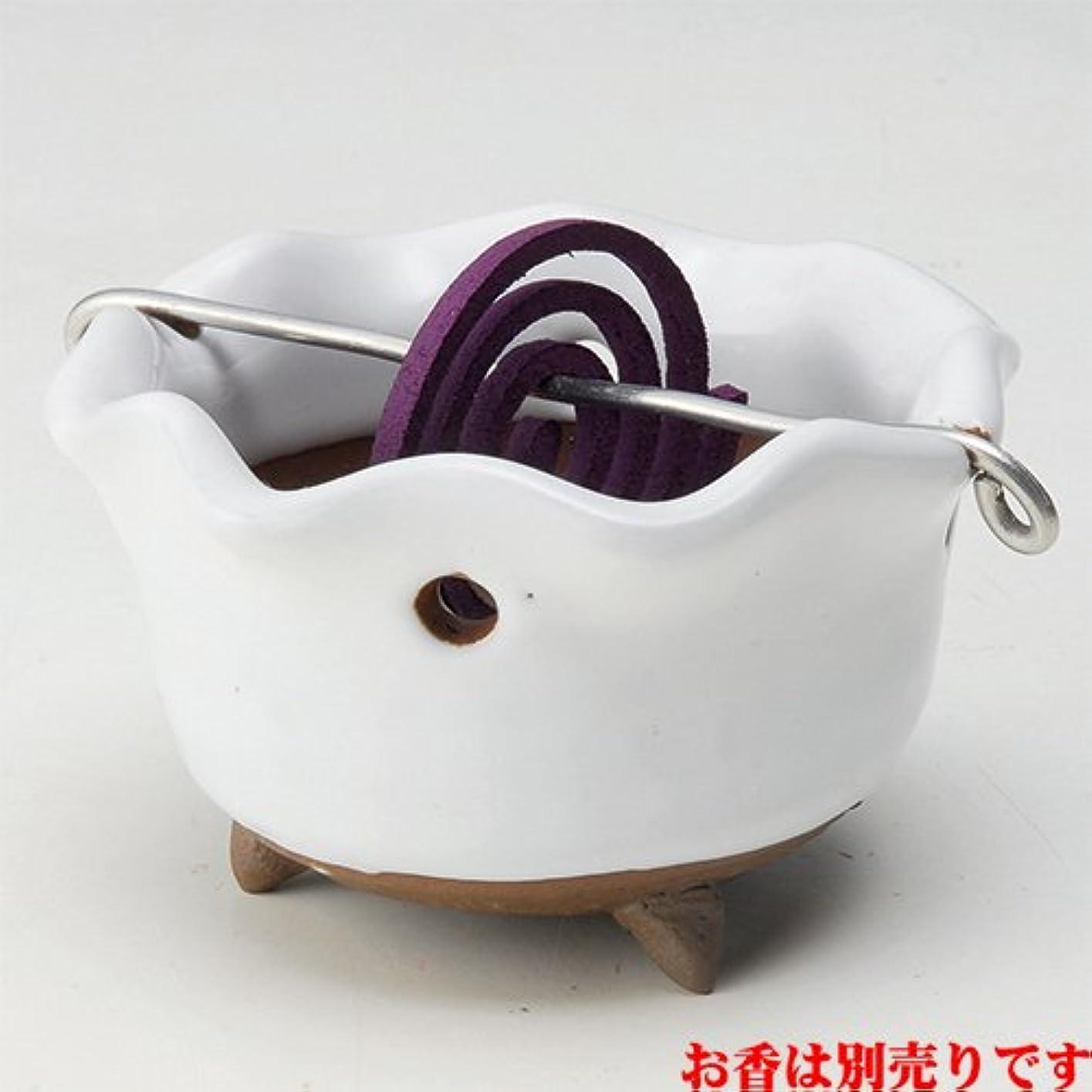 希望に満ちたメイエラ負香皿 白志野 花型 香鉢 [R8.5xH5.3cm] HANDMADE プレゼント ギフト 和食器 かわいい インテリア
