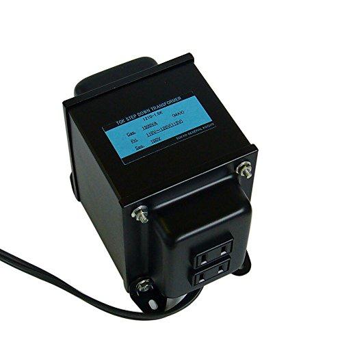 変圧器工房 日本製 変圧器 ステップダウントランス 1500W 110~120V→100V アメリカ・カナダ向け 1210-1.5K (海外滞在用)