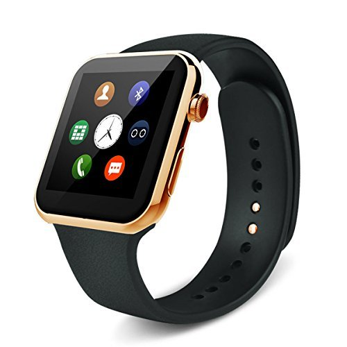 2015 New Smartwatch A9 Bluetooth Smart Watch for Apple Iphone & Samsung Android Phone Relogio Inteligente Reloj Smartphone Watch (gold) by Sudroid