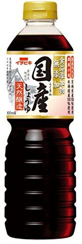 イチビキ 食品添加物無添加 国産しょうゆ 天然醸造 ペット800ml