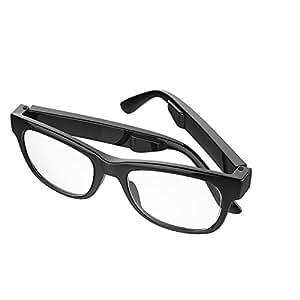 Shnin 骨伝導 ヘッドセット メガネ ブルートゥース サングラス 無線 音楽 Samsung HTC Iphone IOS Androidに適用 (透明)