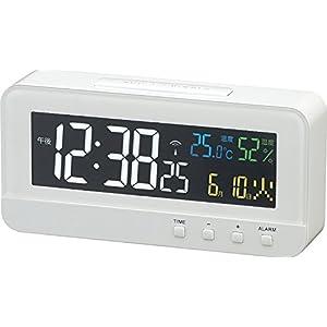 MAG(マグ) 電波目覚まし時計 カラーハーブ 4カラーデジタル液晶表示 ホワイト T-684WH