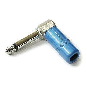 モノラルフォンジャック L型 φ6.3プラグ SWITCHCRAFT #226タイプ Lake Placid Blue (Metallic Blue) 1個売り VGS-SCJ226-LPB-x1p