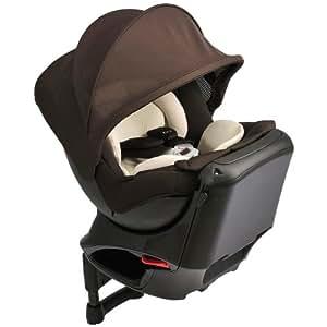 カーメイト エールベベ クルットNT2プレミアム 新生児から4歳用チャイルドシート(サンシェード付360度回転型) カカオブラウン