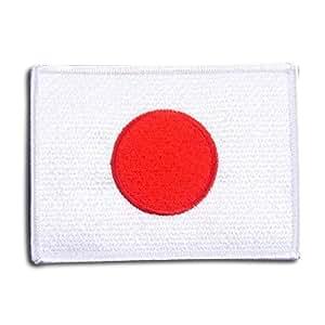 日本 国旗 ( 日の丸 ) アイロン ワッペン (L 約98x72mm)