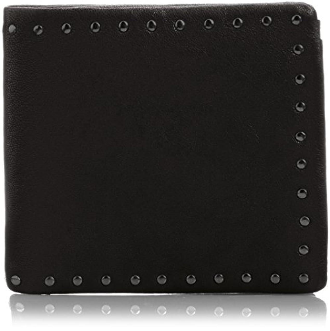 おばさん精査する肝[パトリック ステファン] 財布 二つ折り財布 コーナースタッズ  羊革 124AWA15