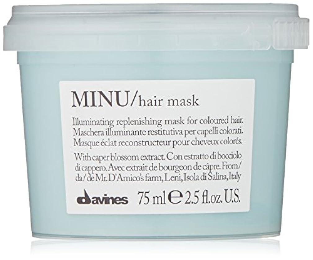 テント柔らかい足突進davines-hair Mask Minu Davinesフォーマットトラベル75 ML