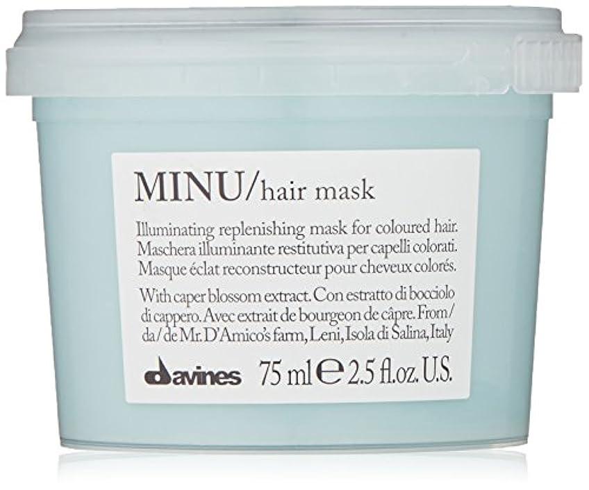 ケントルアーつらいdavines-hair Mask Minu Davinesフォーマットトラベル75 ML