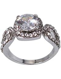 PINKING 結婚指輪 婚約指輪 ジルコン レディース リング アクセサリー シンプル 人気 キラキラ ファッション プレゼント 7#