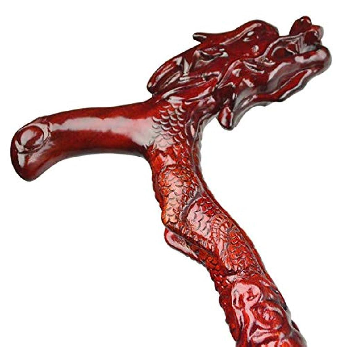 損傷同意ペットBHXUD 木製の歩行スティック, レッドウッド古い蛇口アンチスキッド木製の歩行スティックウォーカーの年配の誕生日プレゼント