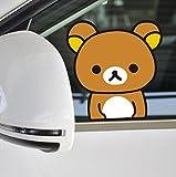 リラックマ シリーズ ビニール デカール カー ステッカー (No.05 窓覗く) [並行輸入品]