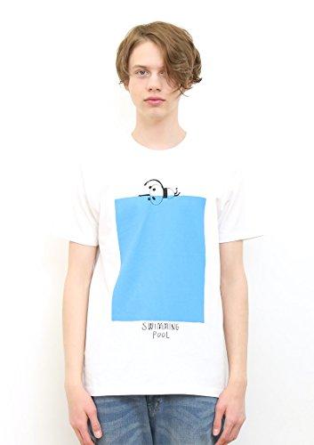 (グラニフ) graniph ベーシック Tシャツ/パンダスイミング (ホワイト) L