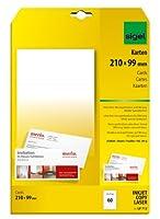 Sigel lp713PC Complimentカード、DL (4.13X 8.27インチ、ホワイト、60カード