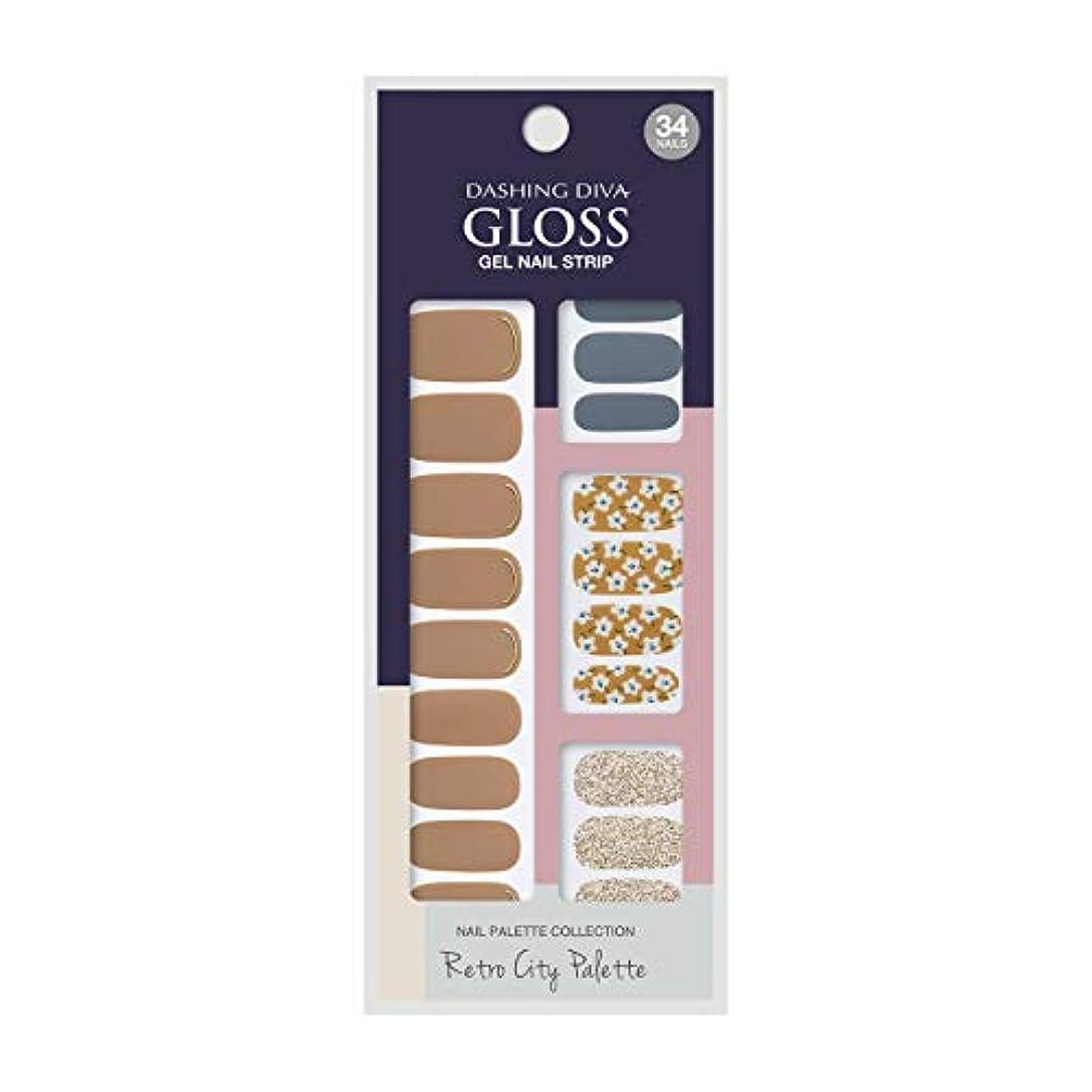 ワイド争う診断するダッシングディバ グロスジェル ネイルストリップ DASHING DIVA Gloss Gel Nail Strip GVP88 -DURY+ オリジナルジェル ネイルシール Prairie Flower