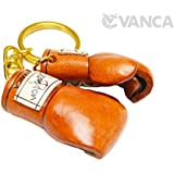 ボクシンググローブ 本革製 立体キーホルダー VANCA CRAFT 革物語 (日本製 ハンドメイド)