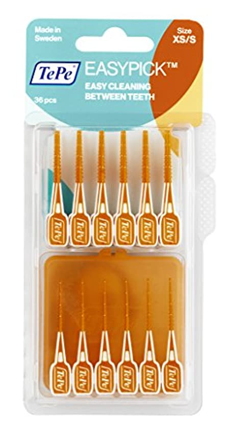 関連付ける剃る有益なTePe イージーピック ブリスターパック (36本入)携帯ケース付き (XS/S)