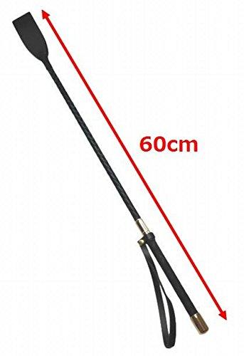 KMS 乗馬 用 ムチ 短鞭 軽量 60cm ジョッキー リストループ付き