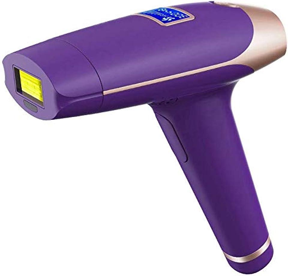 減らす昼食透けるHUYYA IPL パルス脱毛器具、400000 電動脱毛器 永久脱毛、痛みなし 脱毛器ボディ、顔、ビキニと脇の下用,Purple