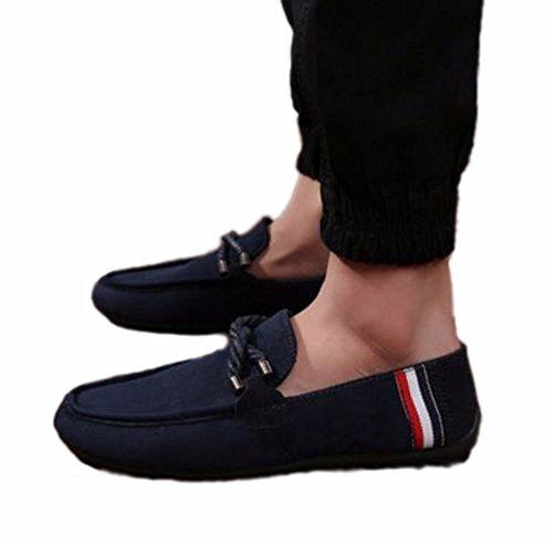 【SEBLES】メンズ 男性 シューズ モカシン 靴 デッキシューズ おしゃれ シンプル ネイビー 41 [ 25.5cm ]