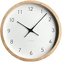 KATOMOKU muku round wall clock 7 ナチュラル 電波時計 連続秒針ムーブメント km-60NRC φ306mm