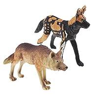 D DOLITY 知育おもちゃ 動物モデル ハンティングウルフ&野生犬 無毒 2個 子供贈り物 面白い 高品質