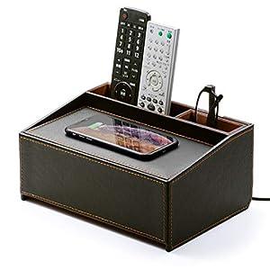 Qi ワイヤレス充電対応の収納ケース 200-CB016BKSET