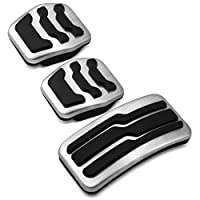 Car Gas Fuel Pedal Set Brake Pedals Rest Foot Pedal Covers for Ford Focus 2 3 4 MK2 MK3 MK4 RS ST Kuga Escape LEIDADA Car Pedal Cover Accelerator Pedal Brake Pedal