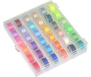 Ceeyali シン糸36色セット 家庭用ミシン用 ボビン(11.5mm) ブラザー、ジャノメ、JUKI、TOYOTA、シンガー共通 (36色セット)