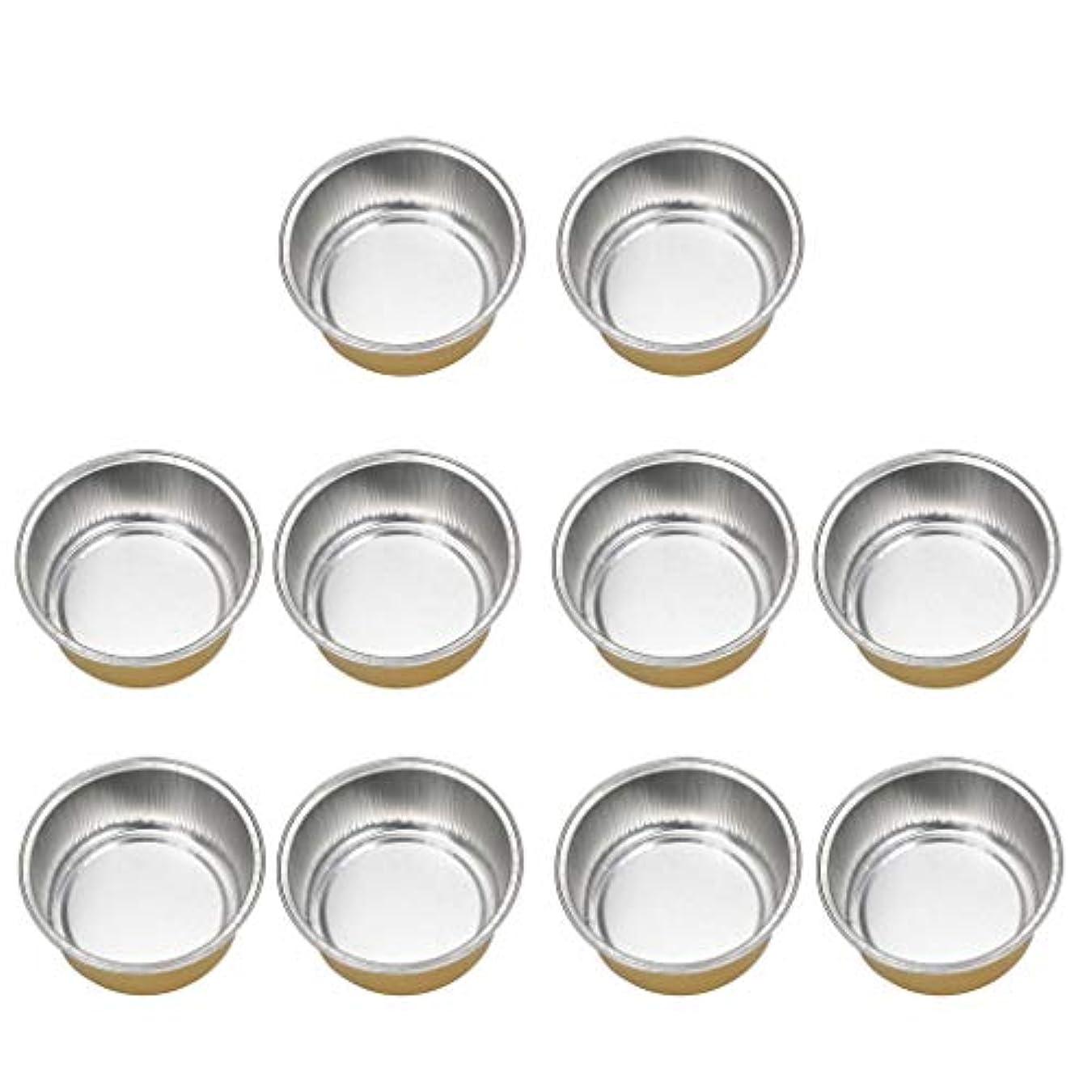 クローゼット持つドームPerfeclan 10個 アルミホイルボウル ワックスボウル ミニボウル ワックス豆体 融解ケース 衛生 2種選ぶ - ゴールデン2, 02