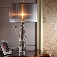 ヨーロッパクリスタルテーブルランプe27ライト高級寝室のベッドサイドランプホームホテルの部屋の装飾テーブルランプ