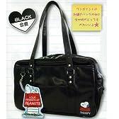 スクールバッグ 【通学鞄】 合皮 黒 スヌーピー