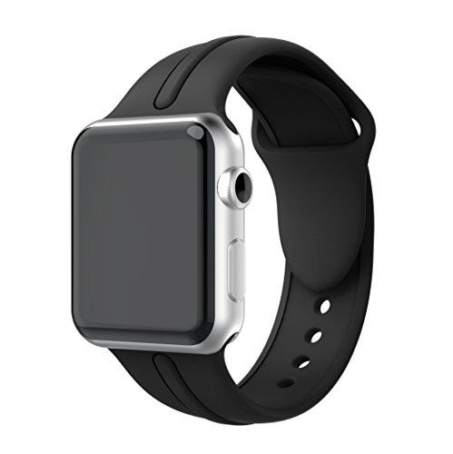 Compatible apple watch band 38/40mm 42/44mm,YAYUU アップルウォッチシリーズ4、シリーズ2、シリーズ2、シリーズ1、スポーツ、エディションのためのソフトシリコン調整可能な交換バンド