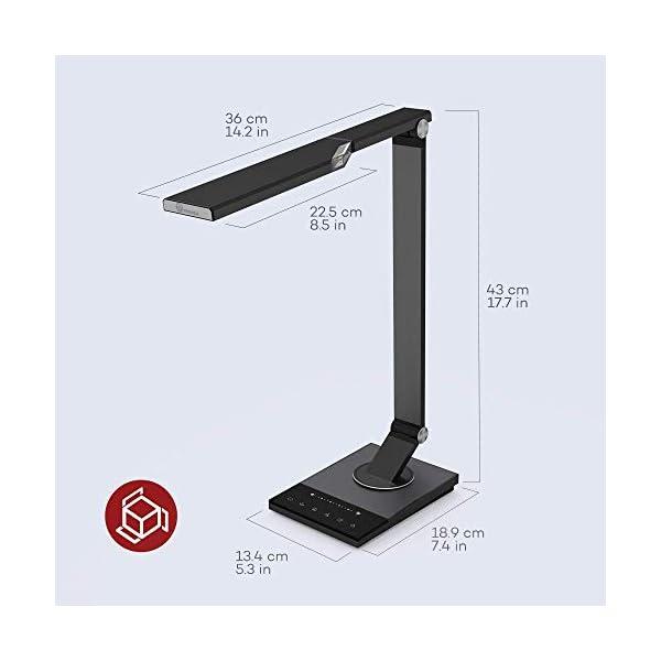 TaoTronics TT-DL16 Stylish Metal LED Desk Lamp, Office 5V/2A USB Port, 5 Color Modes, 6 Brightness Levels, Touch Control, Timer, Night Light, Official Member of Philips Enabled Licensing Program 7