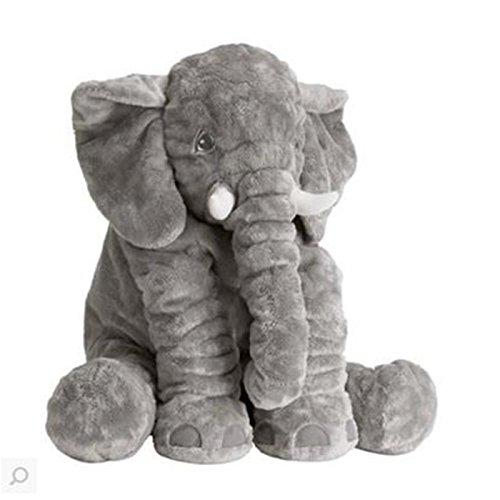 [해외]Seacan 코끼리 인형 코끼리 장난감 안아 베개 동물 재미 쿠션 베이비 자고 안아 베개 어린이 | 출산 축하 선물 실제 아프리카 코끼리 코끼리 귀여운 60cm 그레이/Seacan Elephant Plush Elephant Toy Body Pillow Animal Funny Cushion Baby Nursing...