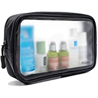 ProCase TSA Approved Travel Toiletry Bag Pouch, Matte Clear Travel Organizer Airport Carry-On Checkpoint Airline Compliant Storage Bag for Toiletries Liquids Creams and Cosmetics