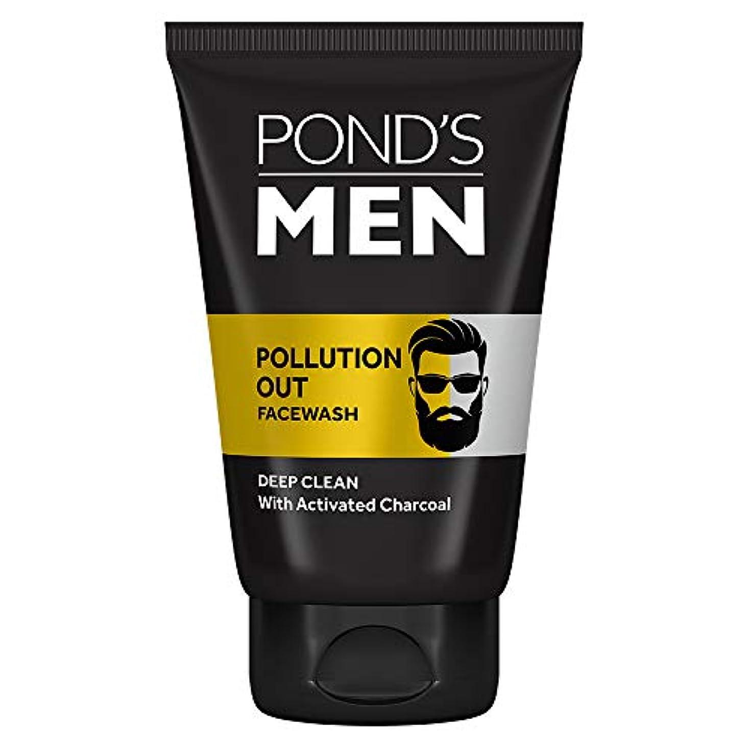 さようならくるくる植生Pond's Men Pollution Out Face Wash, Feel Fresh 100gm