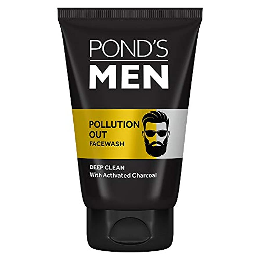 子孫革命的骨Pond's Men Pollution Out Face Wash, Feel Fresh 100gm