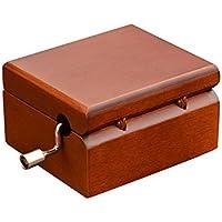 forusky手クランクYou Are My Sunshineレッド木製音楽ボックス、ホームデコレーション、クラフト、玩具、ギフト