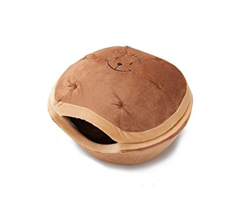 【犬 猫 ペット ベッド】DORAYAKI BED (S, ブラウン)