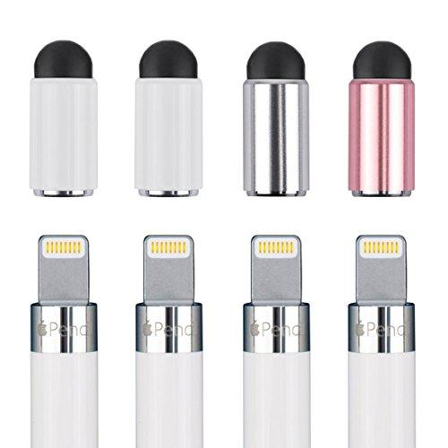 apple pencil キャップ タッチペン機能付き Apple Pencil交換用キャップ(4個入れ) (style-1)