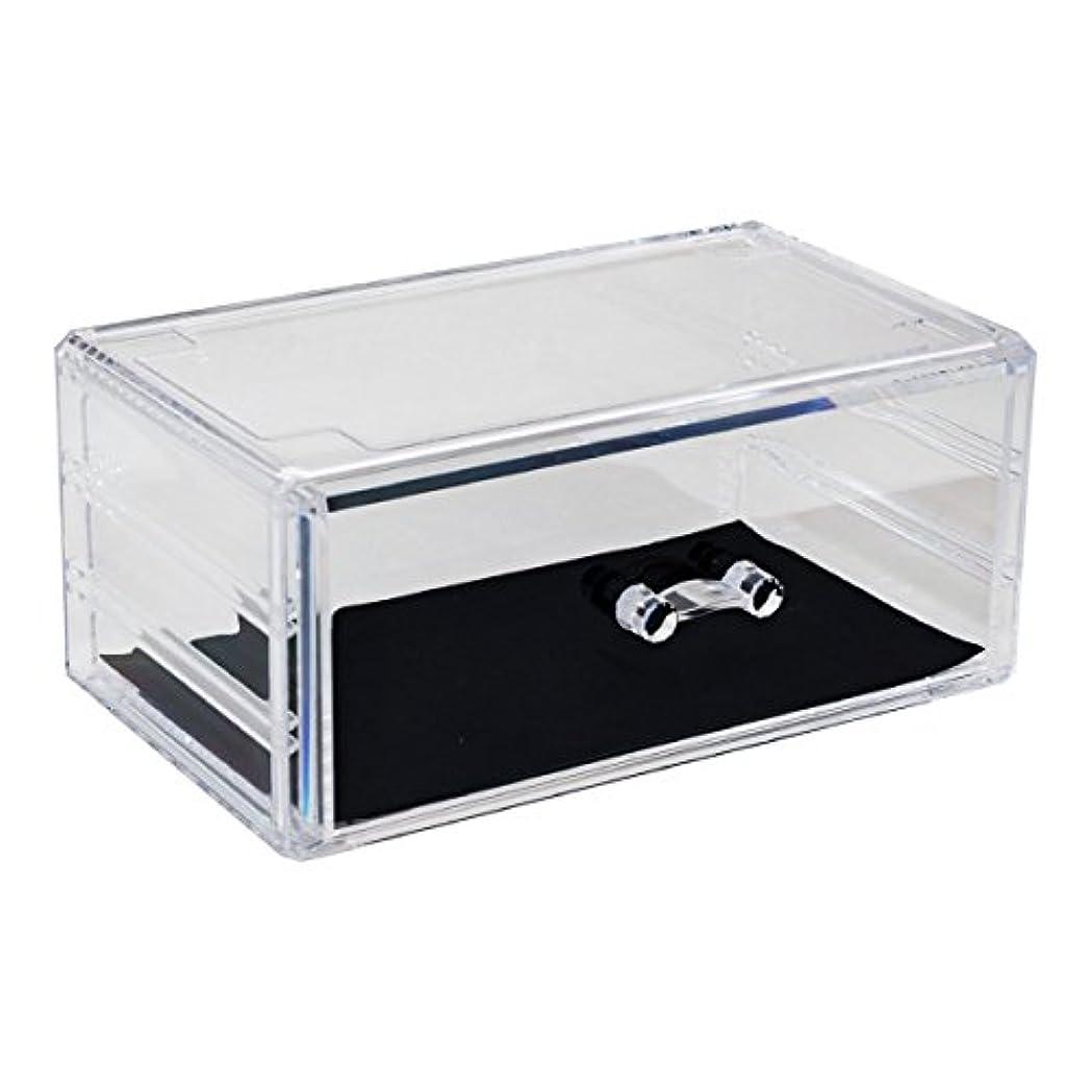大使館アルプス冷えるアクリルケース 収納ケース 引き出し 1段 コスメボックス Mサイズ 小物 化粧品 ディスプレイ_87245